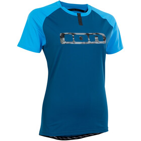 ION Traze Button T-shirt Dames, ocean blue
